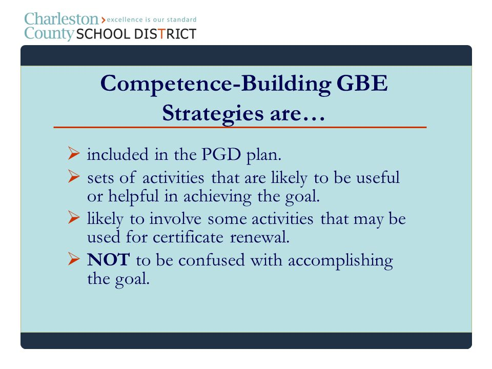 Competence-Building GBE Strategies are…