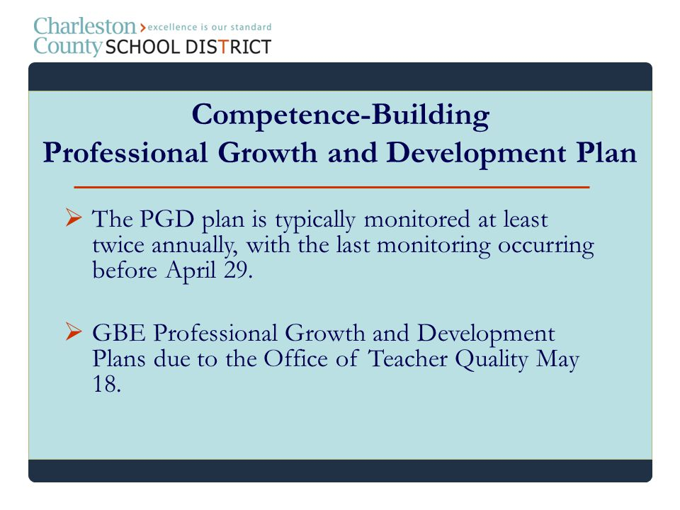 Competence-Building Professional Growth and Development Plan