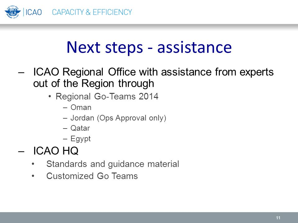Next steps - assistance