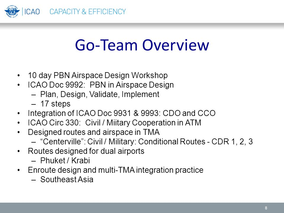 Go-Team Overview 10 day PBN Airspace Design Workshop