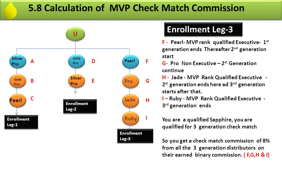 5.8 Calculation of MVP Check Match Commission