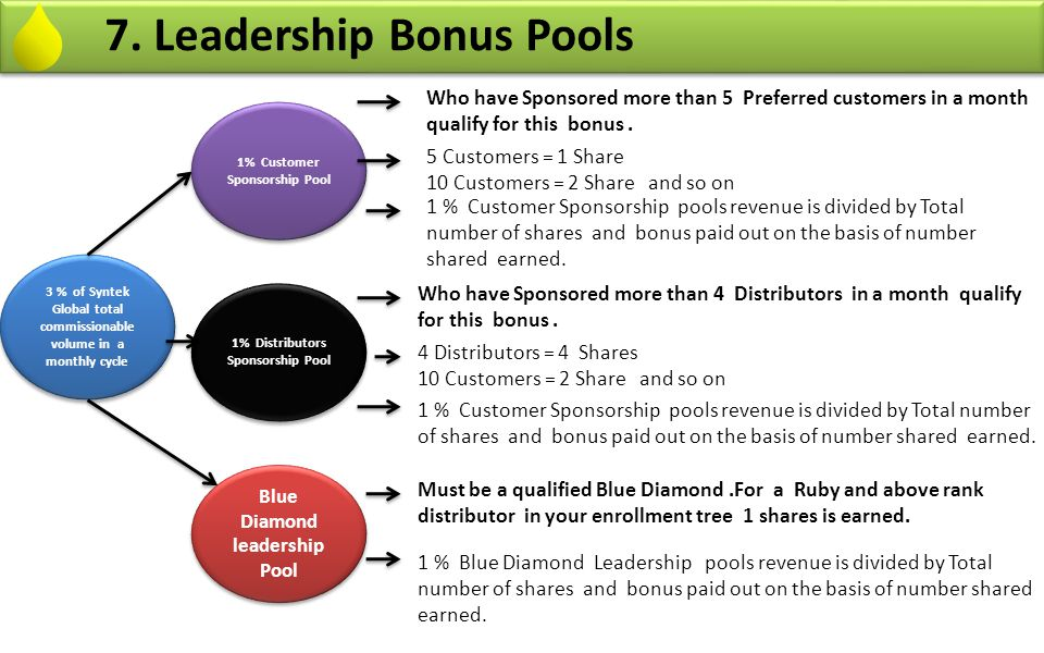 7. Leadership Bonus Pools