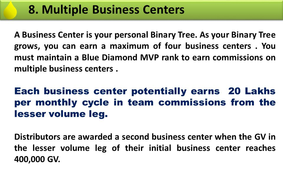 8. Multiple Business Centers