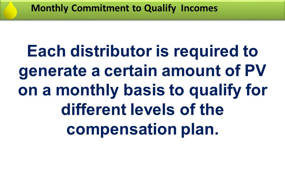 Monthly Commitment to Qualify Incomes