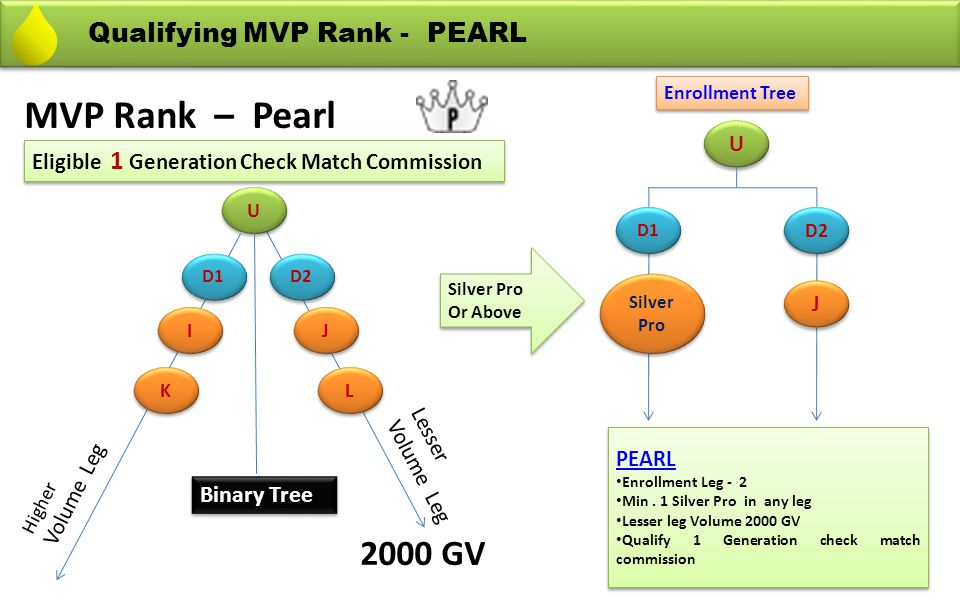 MVP Rank – Pearl 2000 GV Qualifying MVP Rank - PEARL Binary Tree U