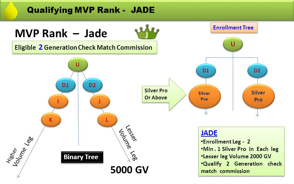MVP Rank – Jade 5000 GV Qualifying MVP Rank - JADE JADE Binary Tree U