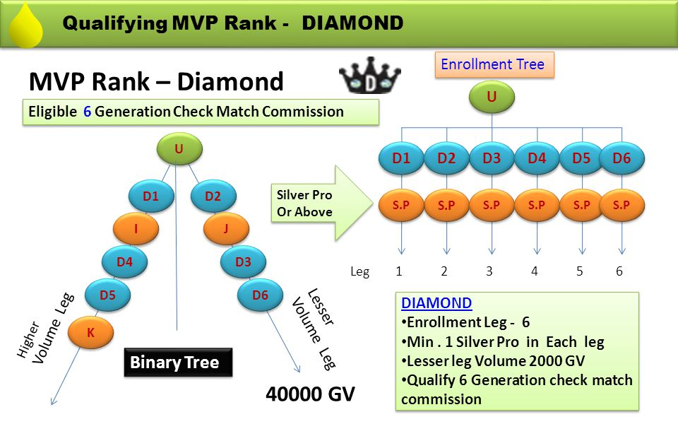 MVP Rank – Diamond 40000 GV Qualifying MVP Rank - DIAMOND Binary Tree