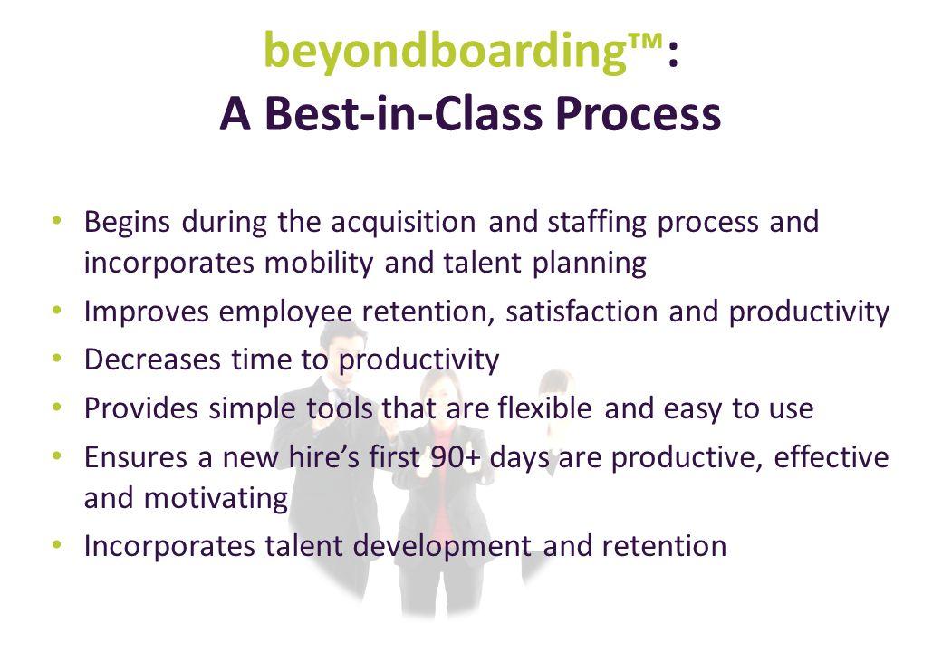 beyondboarding™: A Best-in-Class Process