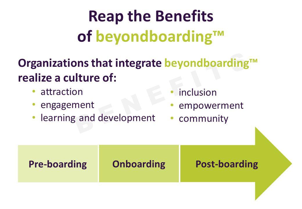 Reap the Benefits of beyondboarding™
