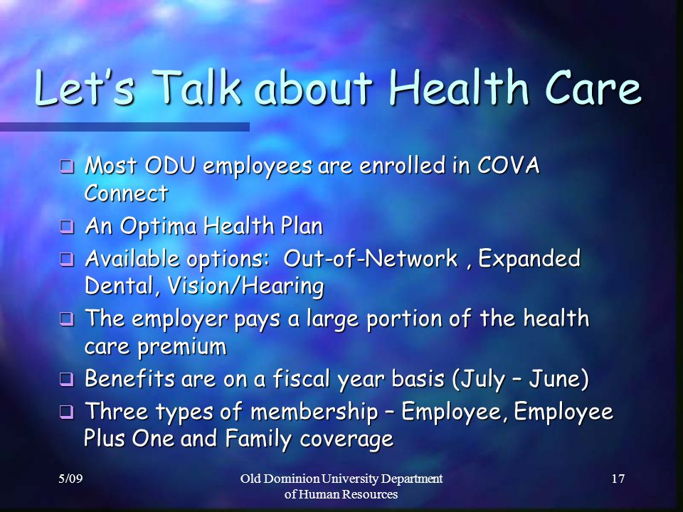 Let's Talk about Health Care