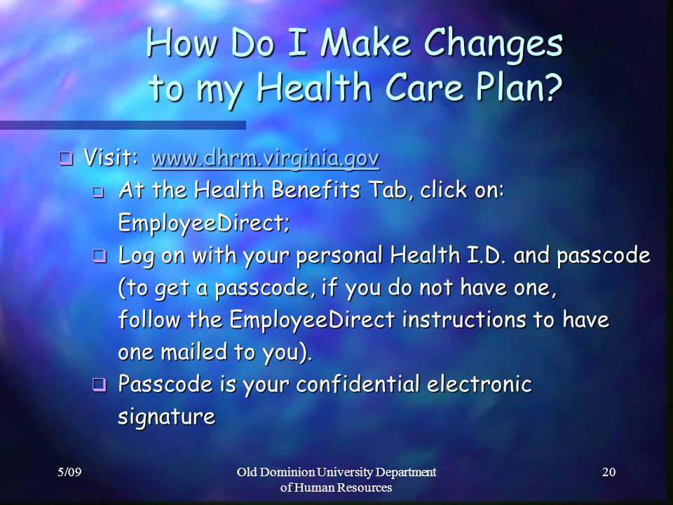 How Do I Make Changes to my Health Care Plan