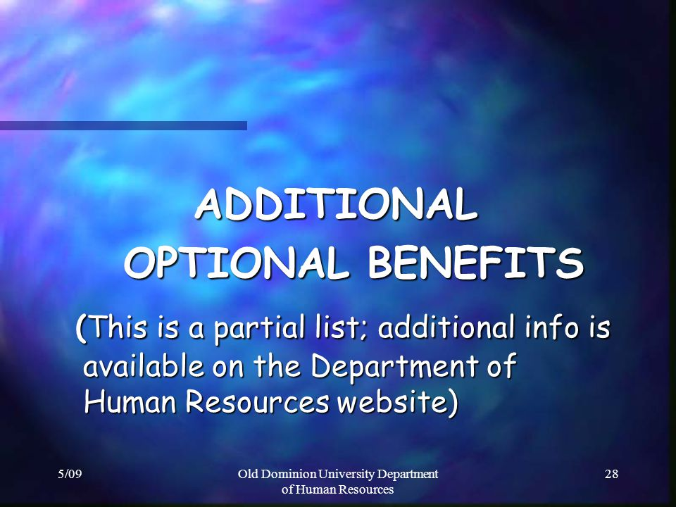 Old Dominion University Department of Human Resources
