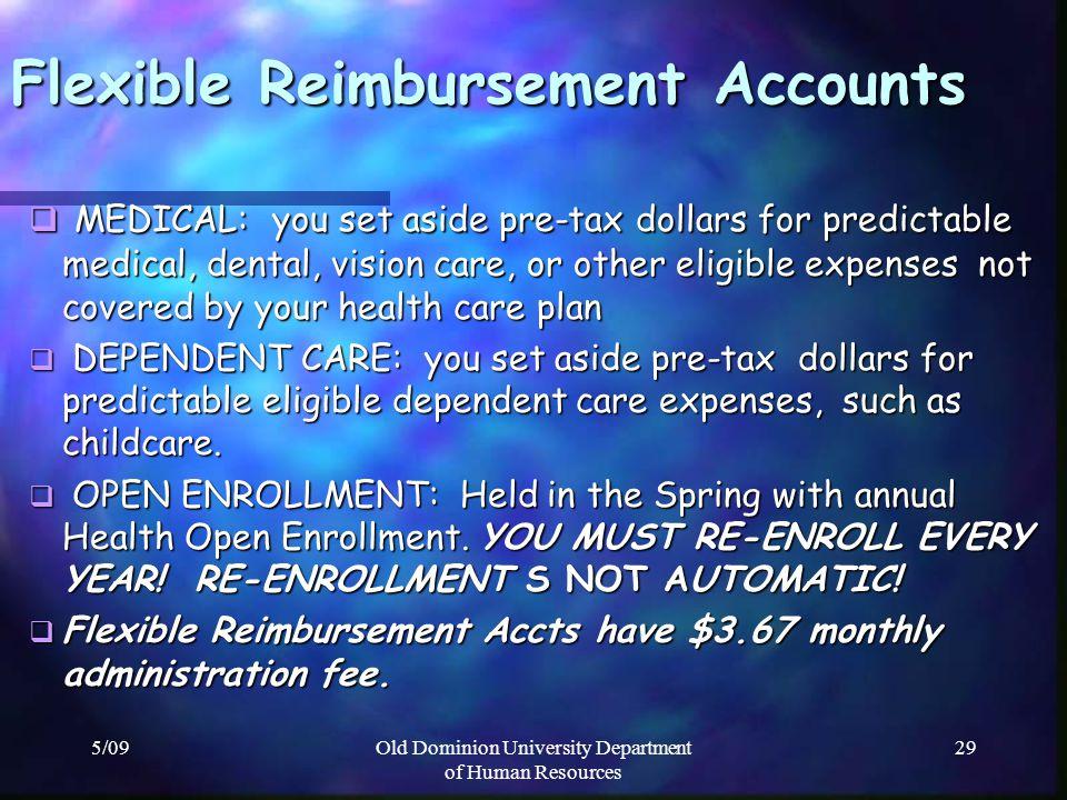 Flexible Reimbursement Accounts