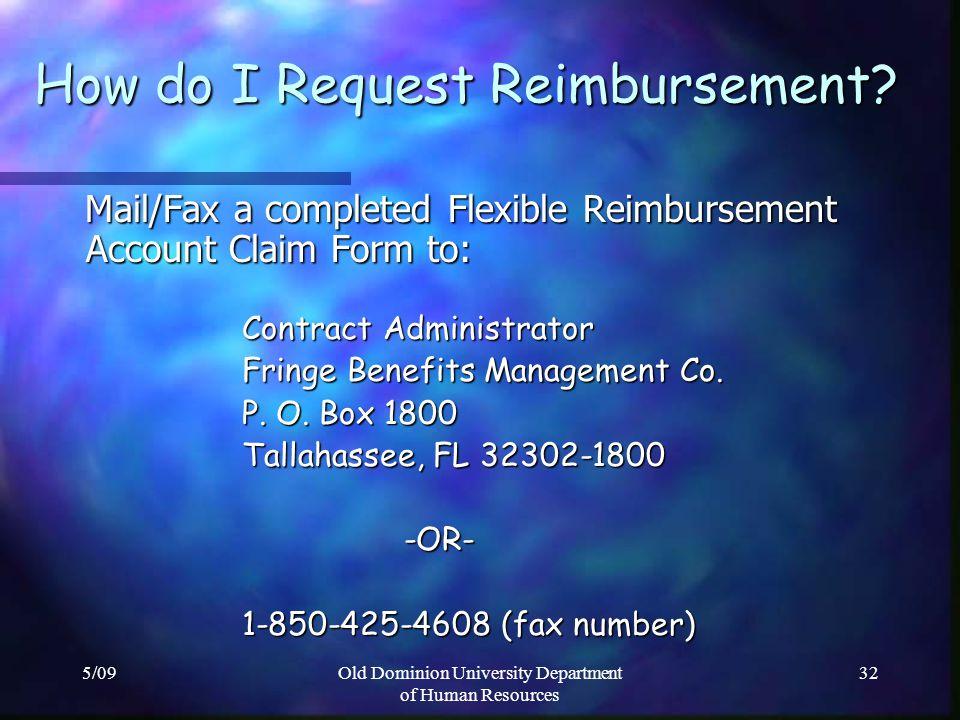 How do I Request Reimbursement