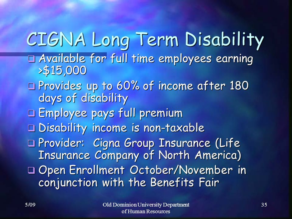 CIGNA Long Term Disability