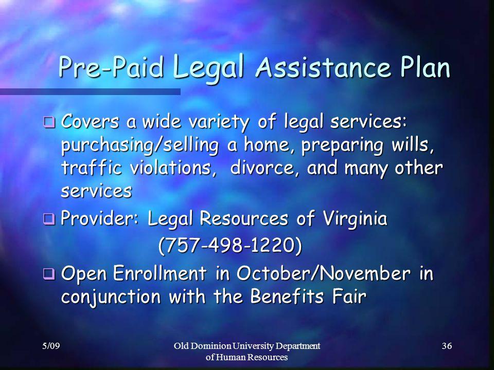 Pre-Paid Legal Assistance Plan