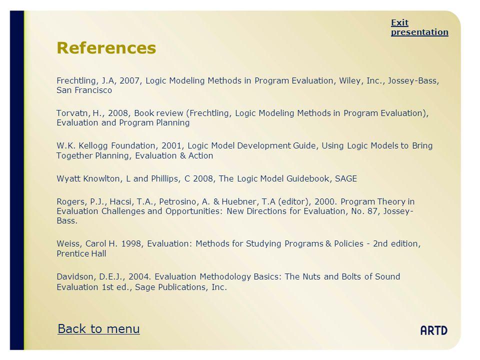 References Back to menu