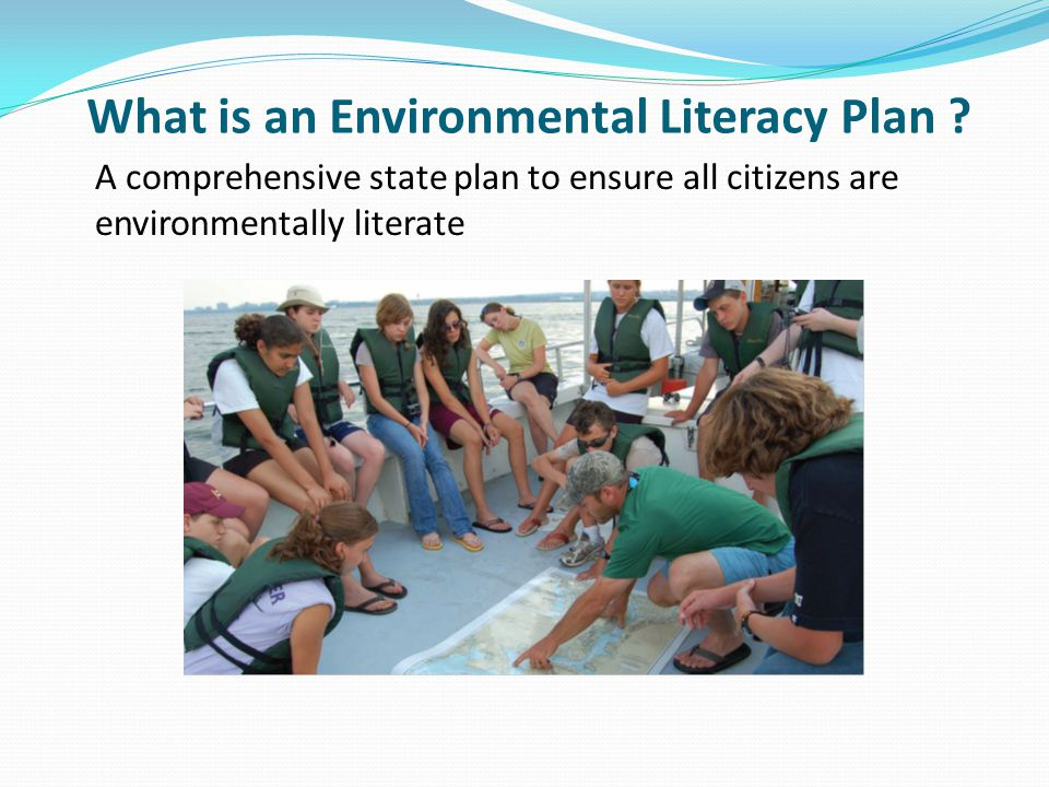 What is an Environmental Literacy Plan