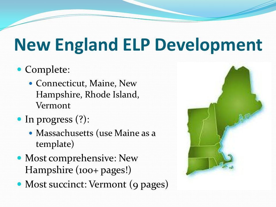 New England ELP Development