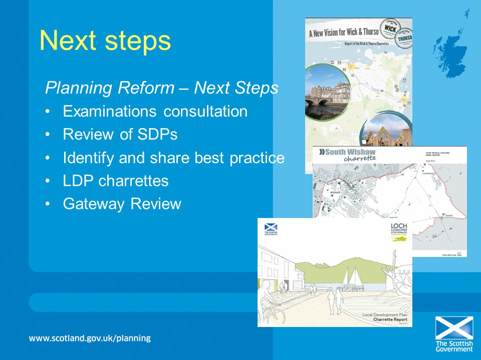 Next steps Planning Reform – Next Steps Examinations consultation