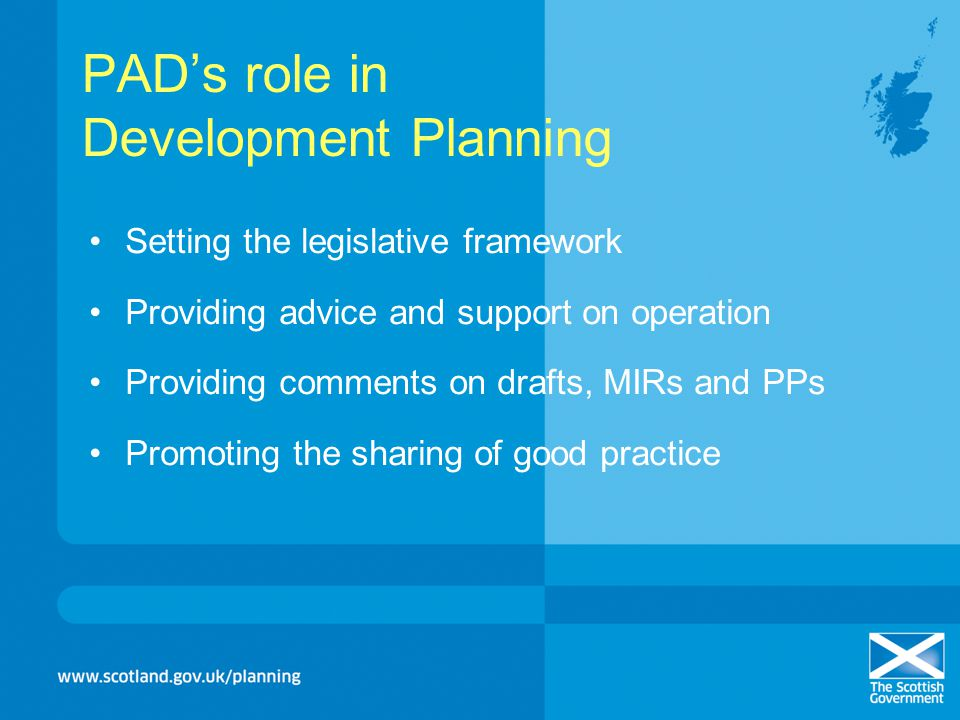 PAD's role in Development Planning