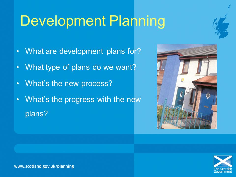 Development Planning What are development plans for