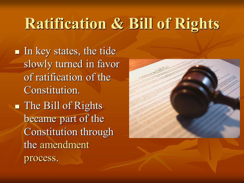 Ratification & Bill of Rights