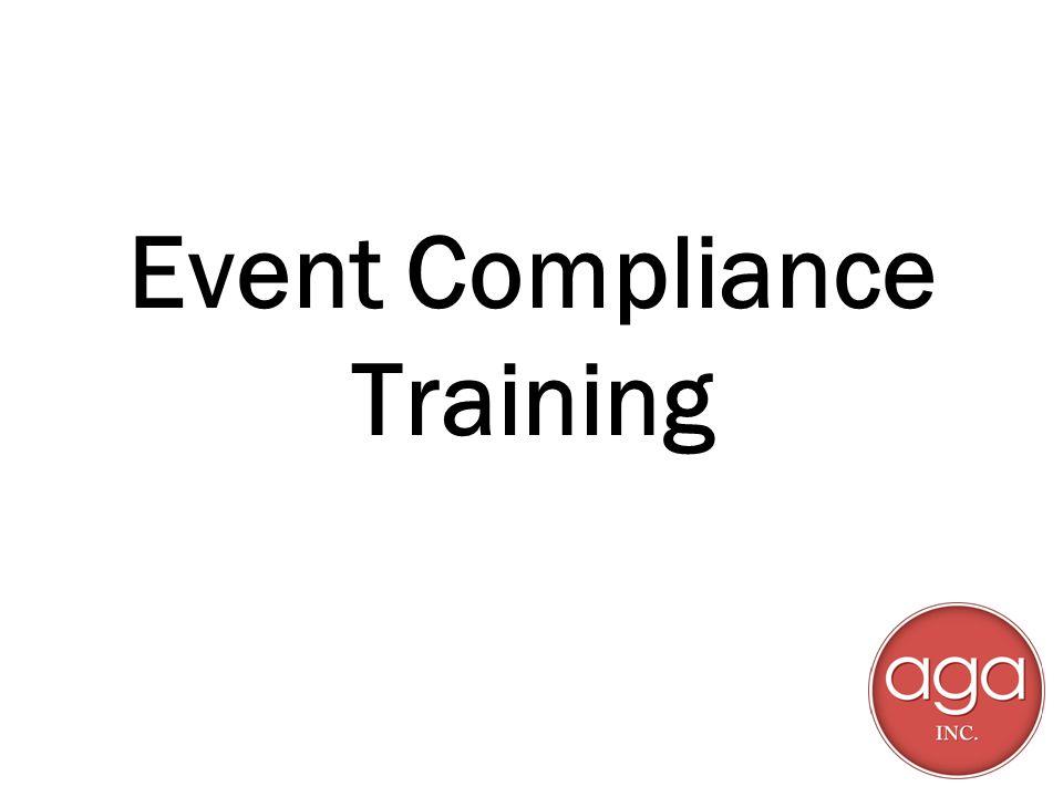 Event Compliance Training