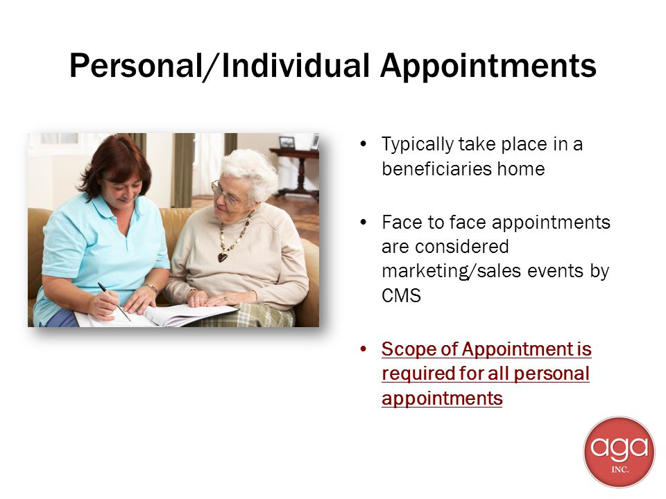 Personal/Individual Appointments