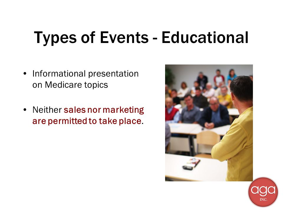 Types of Events - Educational