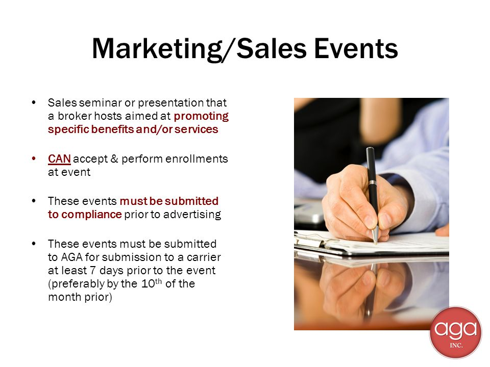 Marketing/Sales Events