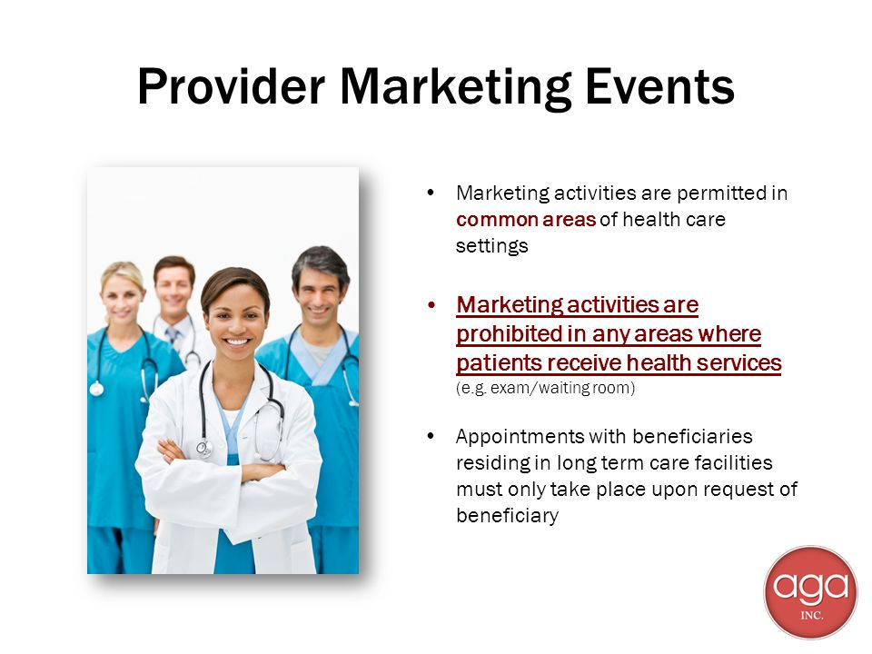 Provider Marketing Events