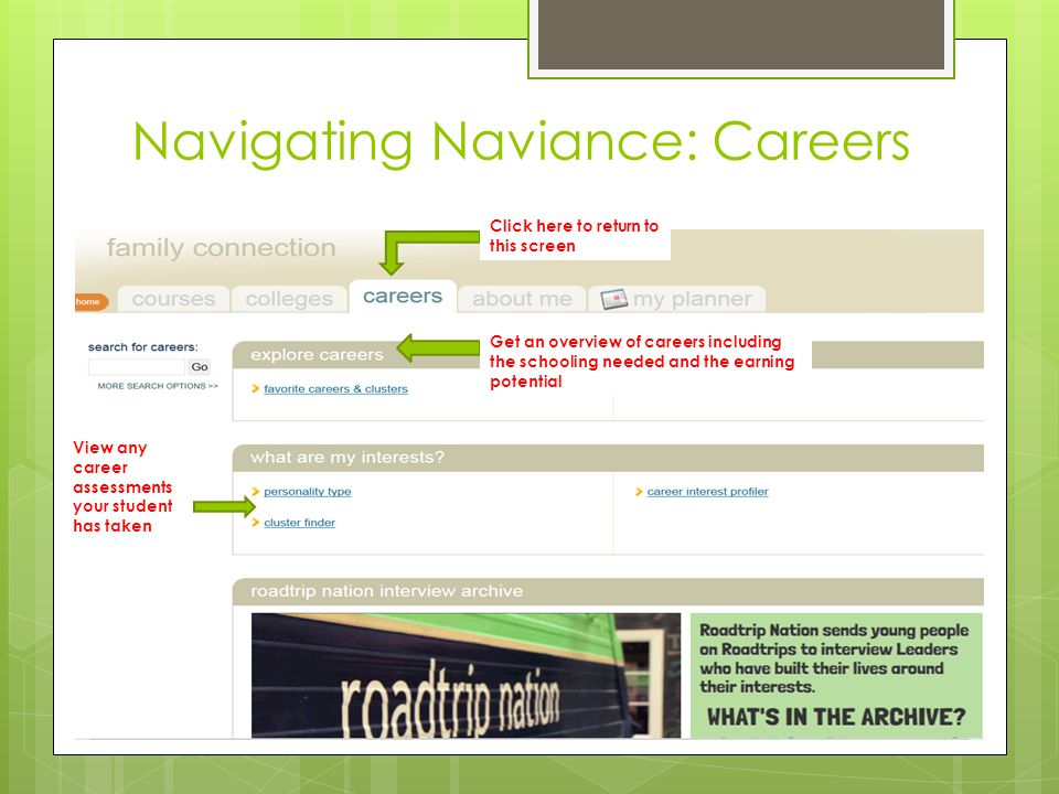 Navigating Naviance: Careers