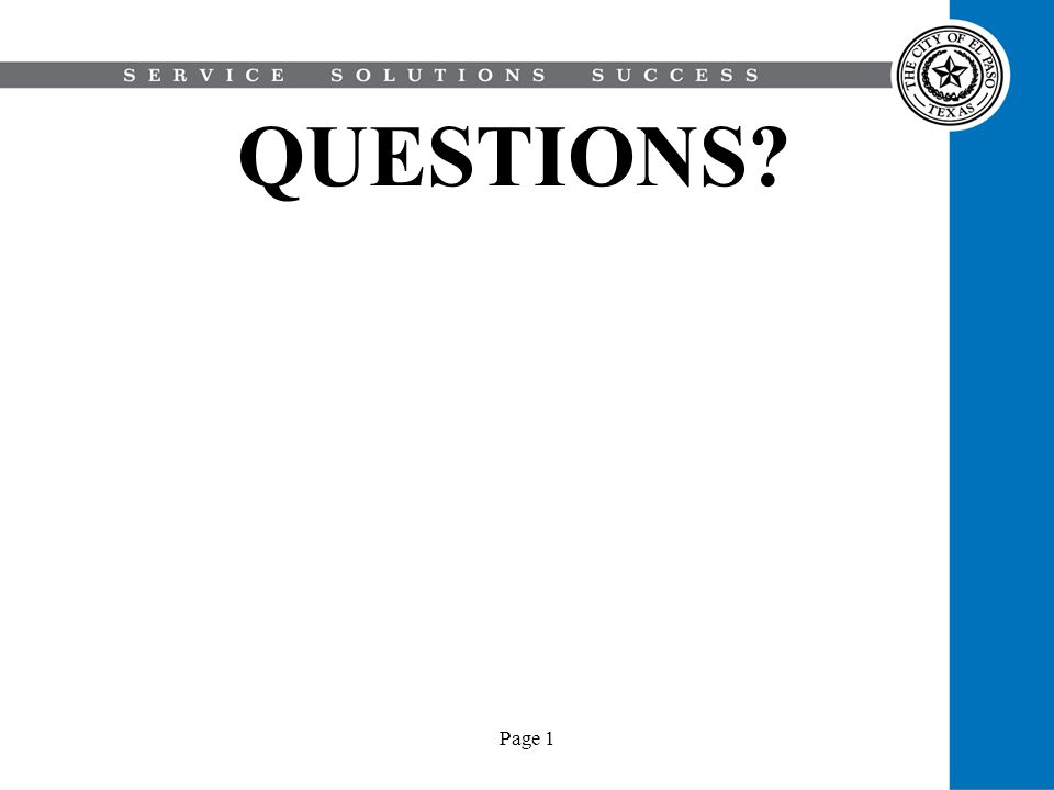 QUESTIONS Page 1