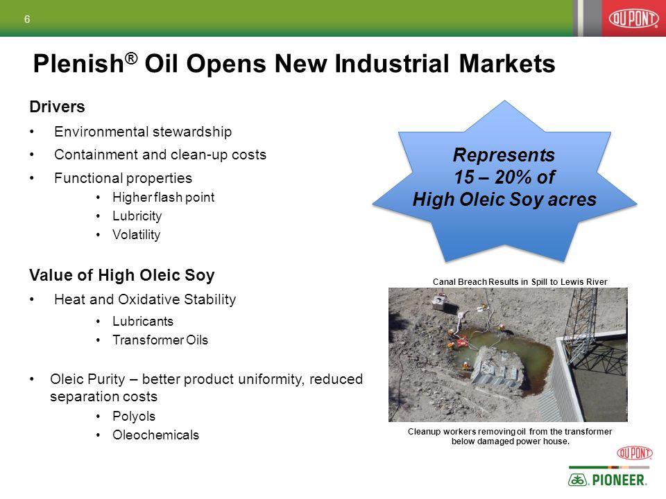 Plenish® Oil Opens New Industrial Markets