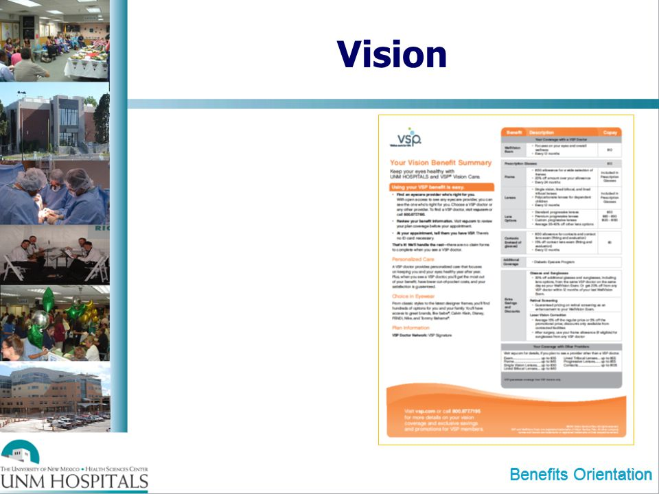 Vision Benefits Orientation