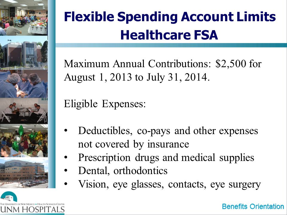 Flexible Spending Account Limits Healthcare FSA