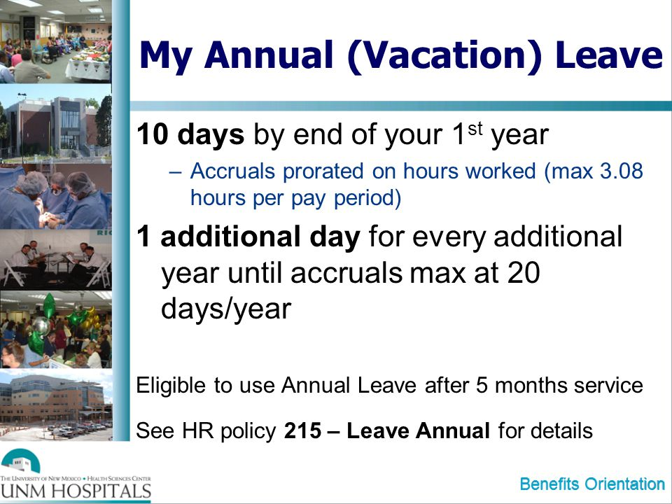 My Annual (Vacation) Leave