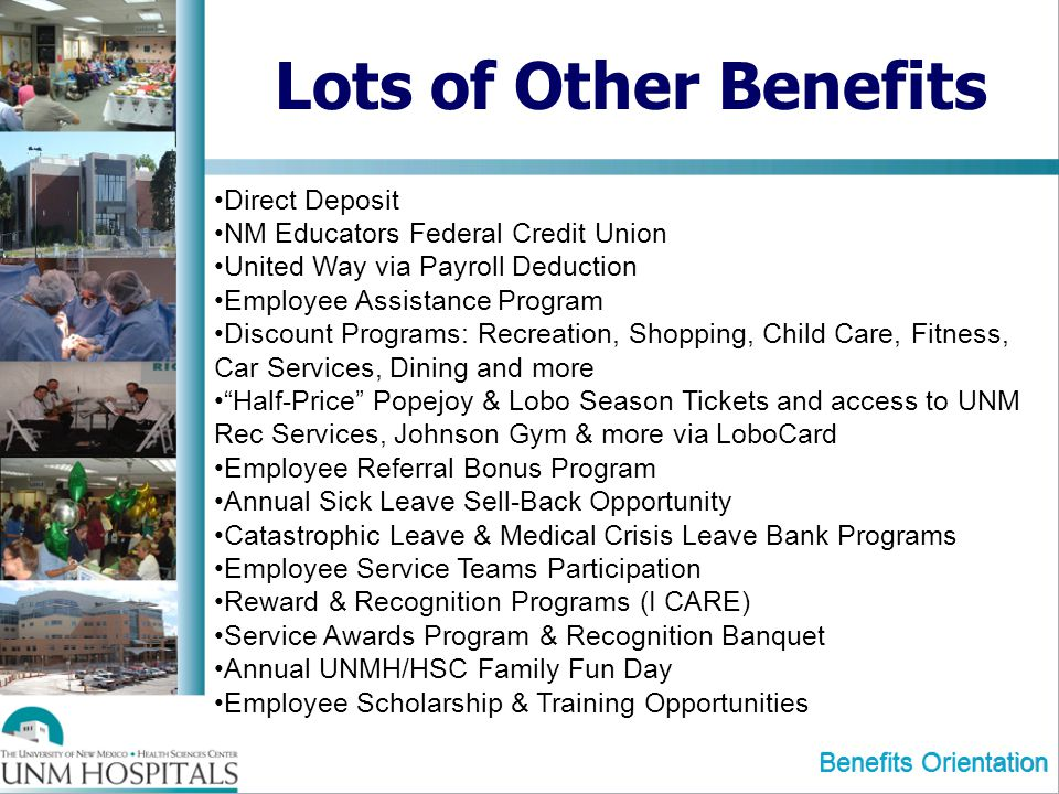 Lots of Other Benefits Direct Deposit