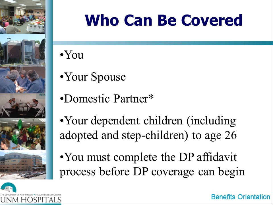 Who Can Be Covered You Your Spouse Domestic Partner*