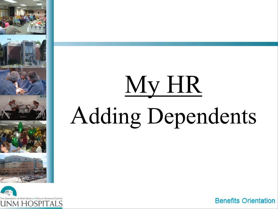 My HR Adding Dependents