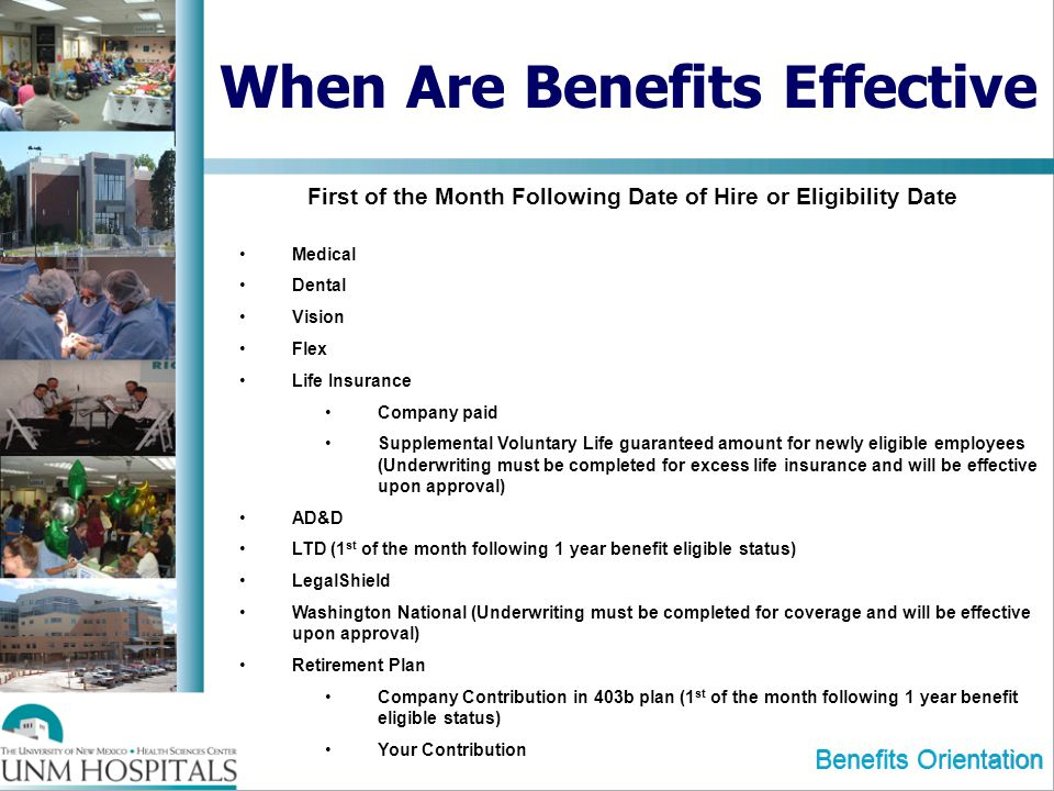 When Are Benefits Effective