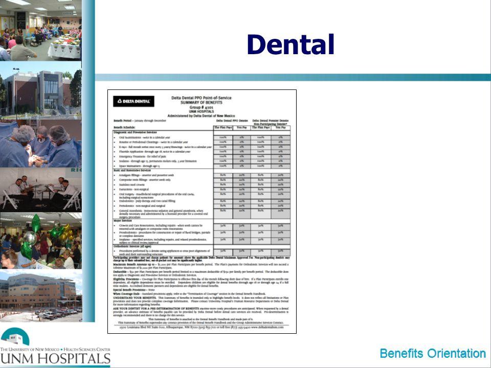 Dental Benefits Orientation