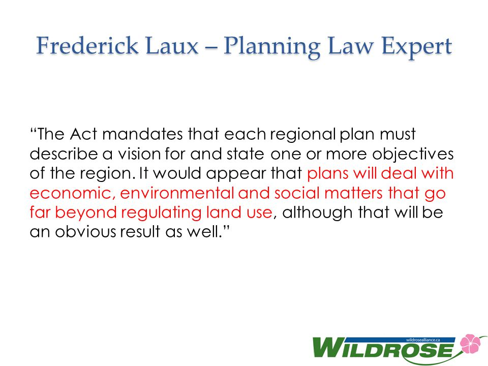Frederick Laux – Planning Law Expert