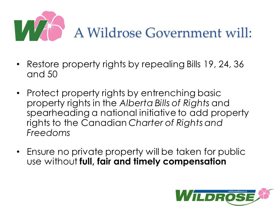 A Wildrose Government will: