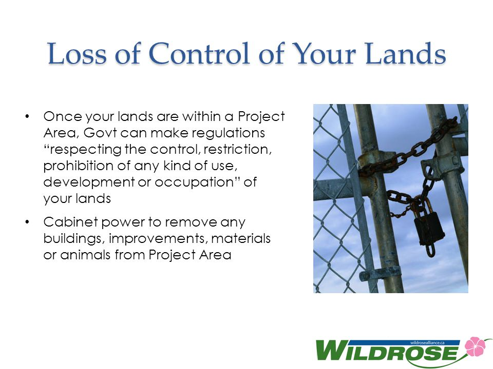 Loss of Control of Your Lands