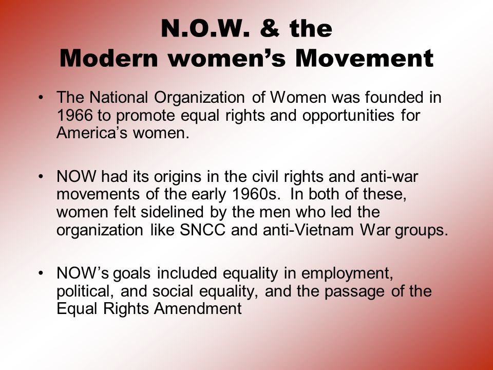 N.O.W. & the Modern women's Movement
