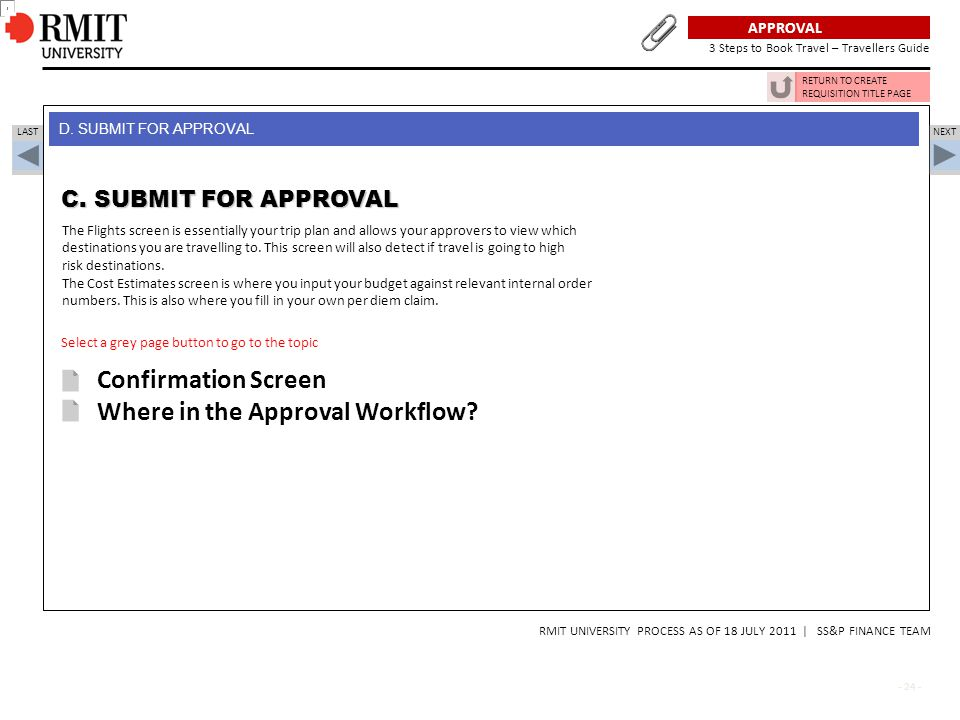Where in the Approval Workflow