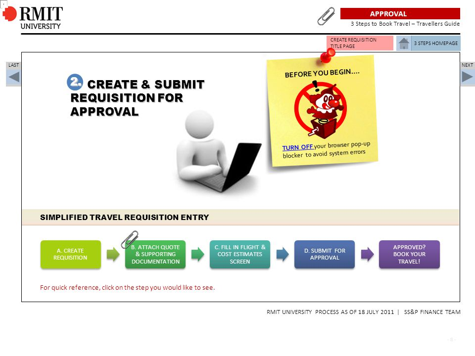  2. CREATE & SUBMIT REQUISITION FOR APPROVAL