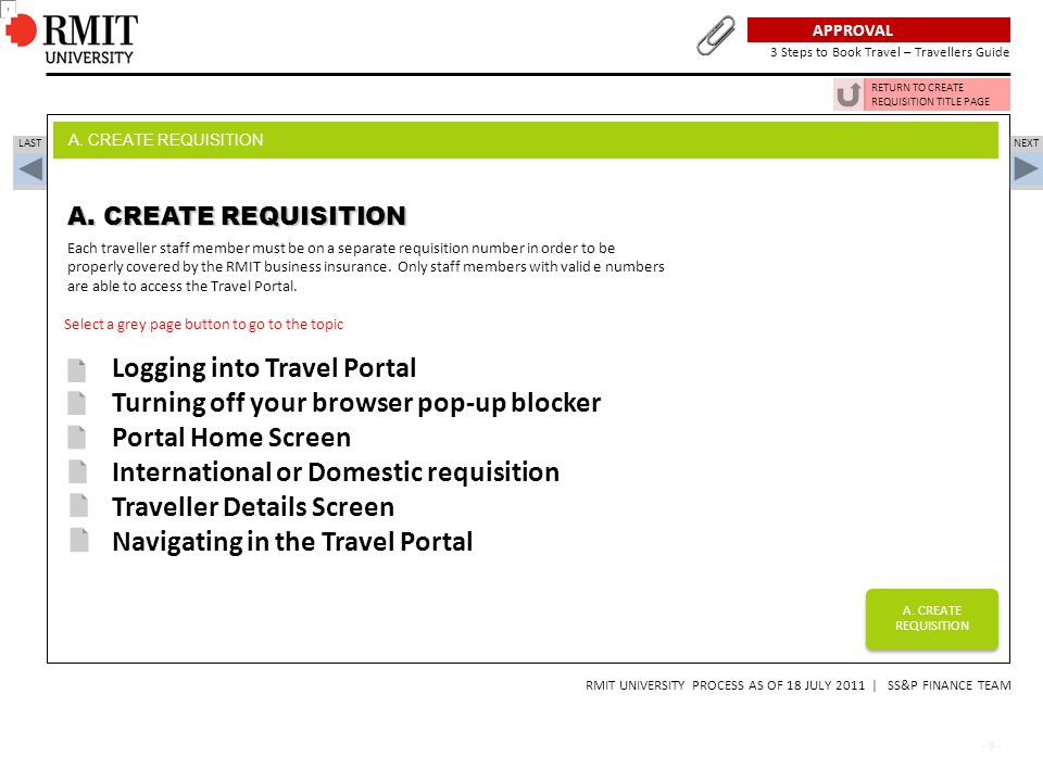 Logging into Travel Portal Turning off your browser pop-up blocker
